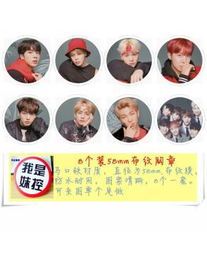 K-POP BTS Brooch Set price for 8 pcs a s...