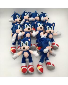 Super Sonic Plush Key Chains 20cm price for 10 pcs Blue